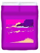 Purple Crashing Waves Duvet Cover