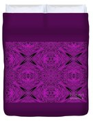 Purple Crossed Arrows Abstract Duvet Cover
