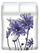 Purple Daisies Duvet Cover