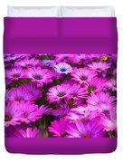 Purple Daisies Duvet Cover