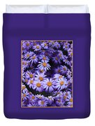 Purple Daisy Abstract Duvet Cover