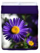 Purple Daisy Duvet Cover by Yew Kwang