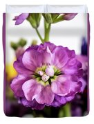 Purple Delphinium Duvet Cover