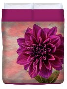 Purple Dhalia Duvet Cover