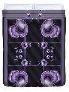 Purple Dimensions Duvet Cover