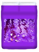 Purple Disturbances Duvet Cover