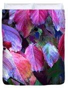 Purple Fall Leaves Duvet Cover