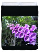 Purple Falls Duvet Cover