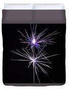 Purple Fireworks  Duvet Cover