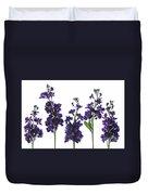 Purple Floral 1 Duvet Cover