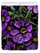 Purple Floral Fantasy Duvet Cover