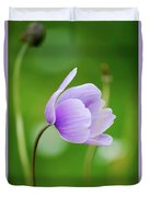 Purple Flower Looking Right Side Duvet Cover