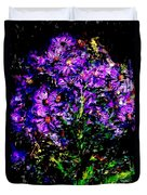 Purple Flower Still Life Duvet Cover