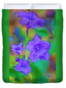 Purple Flowers 102310 Duvet Cover