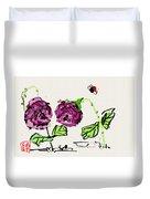 Purple  Flowers Grow Duvet Cover