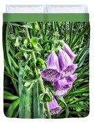 Purple Foxglove Duvet Cover