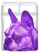 Purple French Bulldog Pop Art - 0755 Wb Duvet Cover