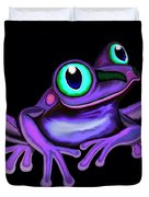 Purple Frog  Duvet Cover