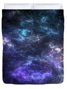 Purple Galaxy Duvet Cover