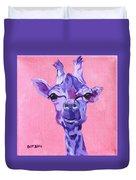 Purple Giraffe Duvet Cover