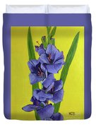 Purple Gladiolas Duvet Cover