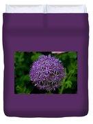Purple Globe Thistle Duvet Cover
