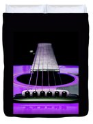 Purple Guitar 15 Duvet Cover by Andee Design