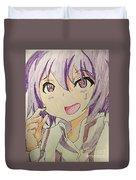 Purple Hair Duvet Cover