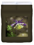 Purple Harlequin Columbine Duvet Cover