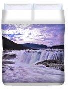 Purple Haze Waterfall Duvet Cover