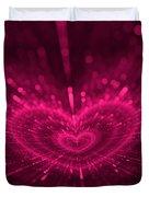 Purple Heart Valentine's Day Duvet Cover