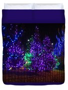 Purple Holiday Lights Duvet Cover