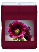 Purple Hollyhock Duvet Cover