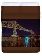 Purple Hour At Astoria Bridge Duvet Cover