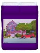 Purple House, Alameda Duvet Cover
