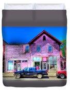 Purple House Duvet Cover