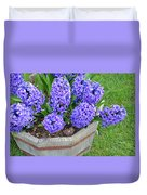 Purple Hyacinth Flowers Planter Duvet Cover