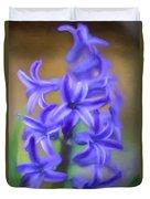 Purple Hyacinths Digital Art Duvet Cover