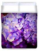 Purple Hydrangeas Duvet Cover