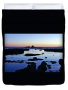 Purple In Gale Beach. Algarve Duvet Cover