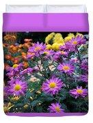 Purple In Garden Duvet Cover