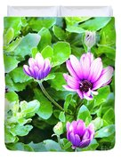 Purple In Greenery Duvet Cover
