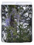 Purple In The Trees Duvet Cover