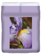 Purple Iris Closeup Duvet Cover