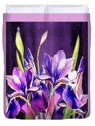 Purple Iris Dance  Duvet Cover