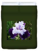 Purple Iris Flower Art Prints Garden Floral Baslee Troutman Duvet Cover