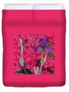 Purple Iris In Pink 2  Duvet Cover