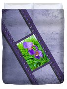 Purple Iris Passion Duvet Cover