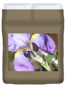 Purple Iris With Focus On Bud Duvet Cover