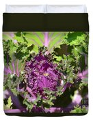 Purple Kale Duvet Cover